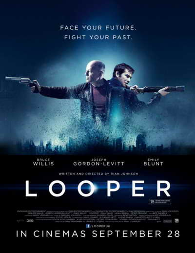 Looper movie promo art and spoilers