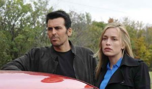 Oded Fehr, & Piper Perabo in Covert Affairs