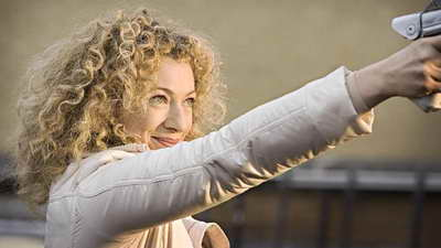 Production Still of Alex Kingston in Doctor Who