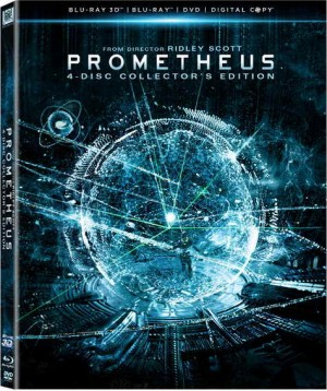 Prometheus Blu-ray 3D, blu-ray, DVD and digital copy
