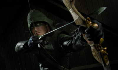 Stephen Amell in Arrow season premiere