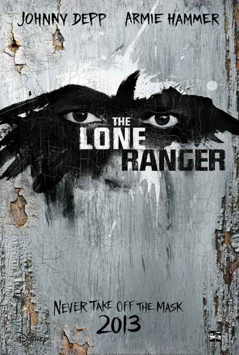 The Lone Ranger movie promo art