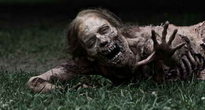 The Walking Dead mother zombie in park