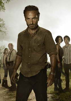 The Walking Dead season 3 - Rick Grimes played by Andrew Lincoln