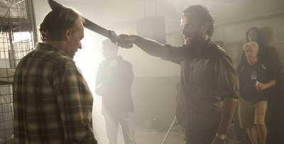 a Still of Andrew Lincoln and Greg Nicotero in The Walking Dead