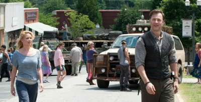 a still of Laurie Holden, David Morrissey in The Walking Dead episode, Walk with Me