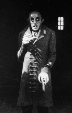 Max Schreck in Nosferatu - the first Dracula movie