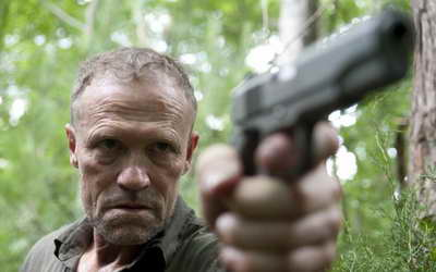 Michael Rooker as Merle in The Walking Dead