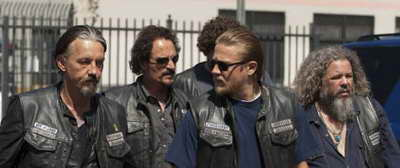 Sons of Anarchy Kim Coates, Tommy Flanagan, Charlie Hunnam and Mark Boone in Crucifixed p