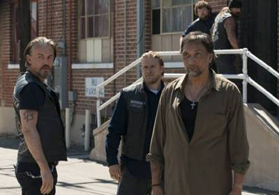 Jimmy Smits and Charlie Hunnam in Sons of Anarchy