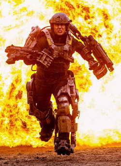 Tom Cruise early promo image from ALL YOU NEED IS KILL