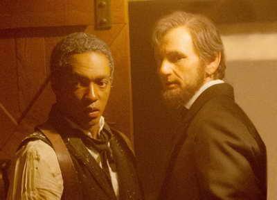 still of Benjamin Walker and Anthony Mackie in Abraham Lincoln Vampire Hunter