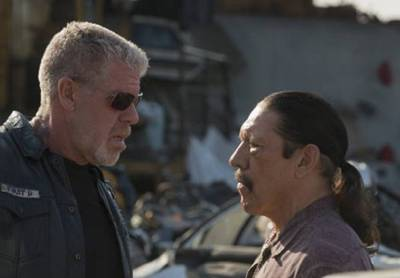 Ron Perlman and Danny Trejo in Sons of Anarchy