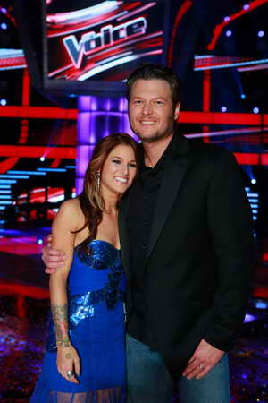 Cassadee Pope wins The Voice, coach Blake Shelton beaming with pride