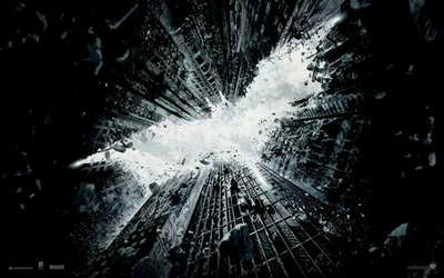 Dark Knight Rises promo with Superman symbol