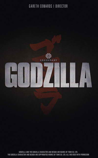 Godzilla 2014 movie promo poster