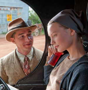 Still of Shia LaBeouf and Mia Wasikowska in Lawless movie