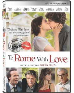 To Rome With Love on DVD