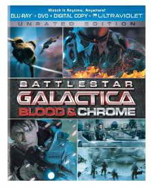 'Battlestar Galactica Blood and Chrome' on Blu-ray and DVD