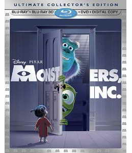 'Monsters, Inc' 3d blu-ray ultimate collectors edition