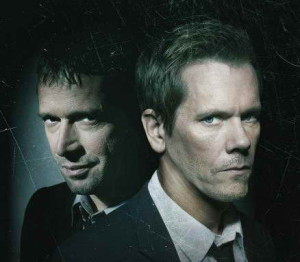 promo still of Kevin Bacon and James Purefoy in