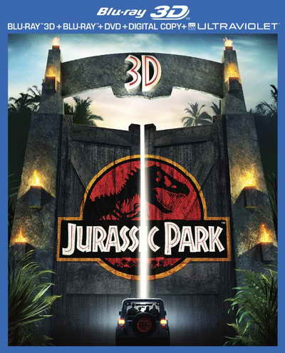 Jurassic Park 3D blu-ray