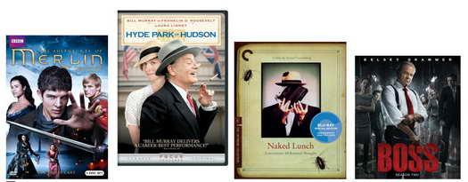 Merlin, Hyde Park, Naked Lunch, Boss on DVD and Blu-ray