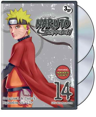 'Naruto Shippuden 'Set 14 3 disc dvd set