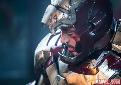Robert Downey Jr in 'Iron Man 3' movie still