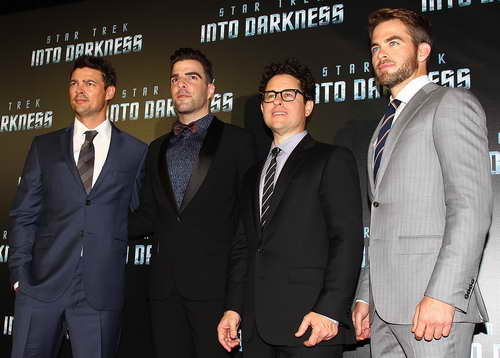 Chris Pine, Karl Urban, Zacharay Quinto and J.J. Abrams at the &quot;Star Trek Into Darkness&quot; Australian Premiere