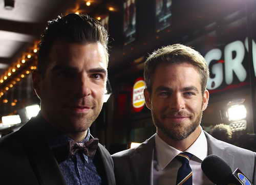 Chris Pine and Zacharay Quinto at the
