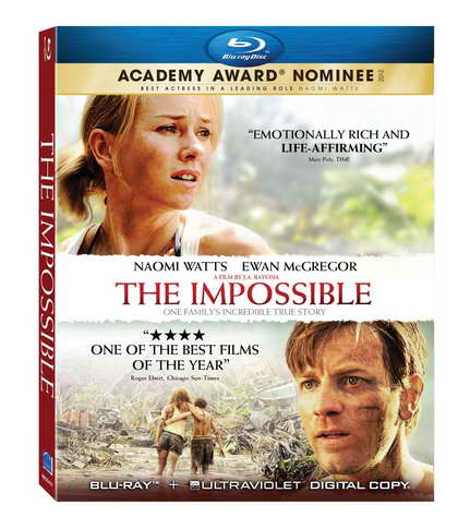 'The Impossible' on blu-ray