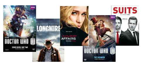 Doctor Who, Longmire, Covert Affairs and Suits on DVD