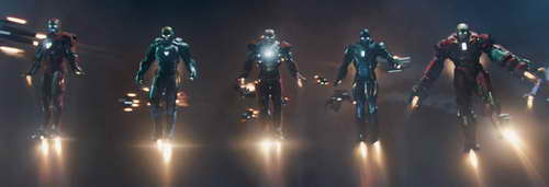 Iron Man 3 Iron Legion of remoted controlled armors