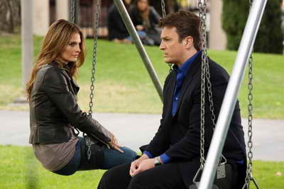 Promo Still of Nathan Fillion and Stana Katic in Castle