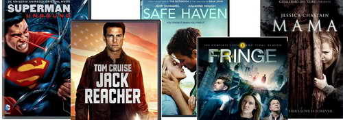 Superman, Fringe, Mama, Jack Reacher on DVD