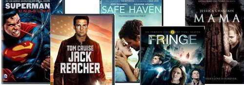 Superman, Fringe, Mama, Jack Reacher on DVD