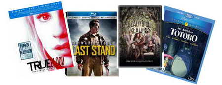 True Blood, Last Stand, Beautiful Creatures, Totoro blu-rays