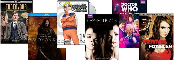 Solomon Kane, Naruto, Orphan Black, Doctor Who and Femme Fatales on DVD