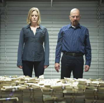 Bryan Cranston and Anna Gunn in 'Breaking Bad,' season five