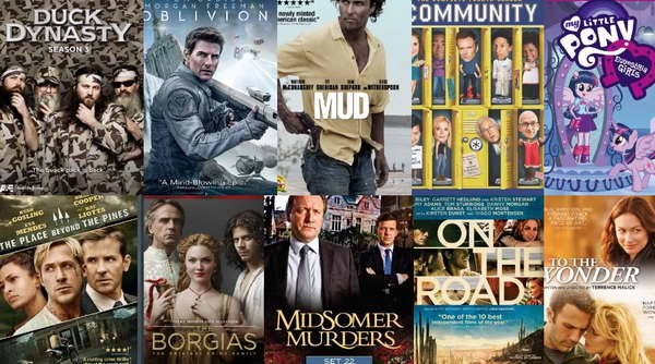 Duck Dynasty, Oblivion, Mud, Community, My Little Pony, The Place Beyond the Pines, Borgais, and more on DVD