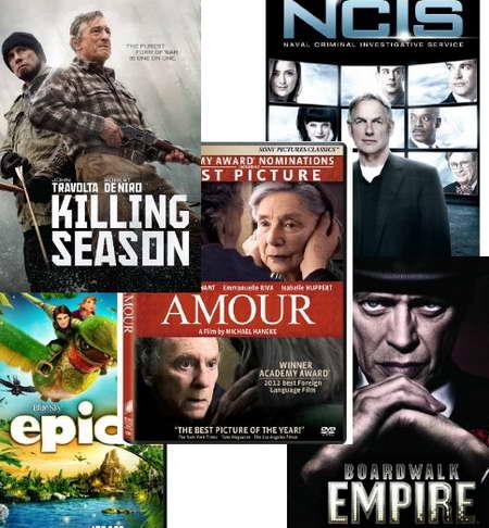 NICS, Boardwalk Empire, Killing Season, Amour on DVD this week