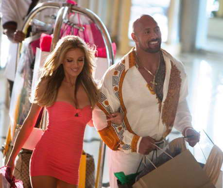 Dwayne Johnson and Bar Paly in 'Pain & Gain'