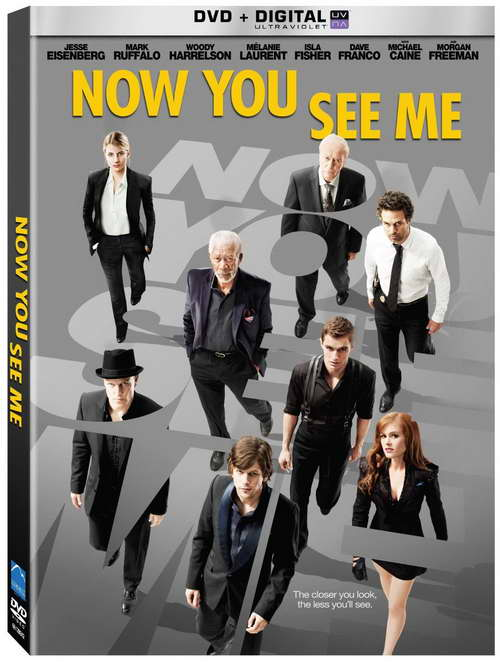 'Now You See Me' on dvd