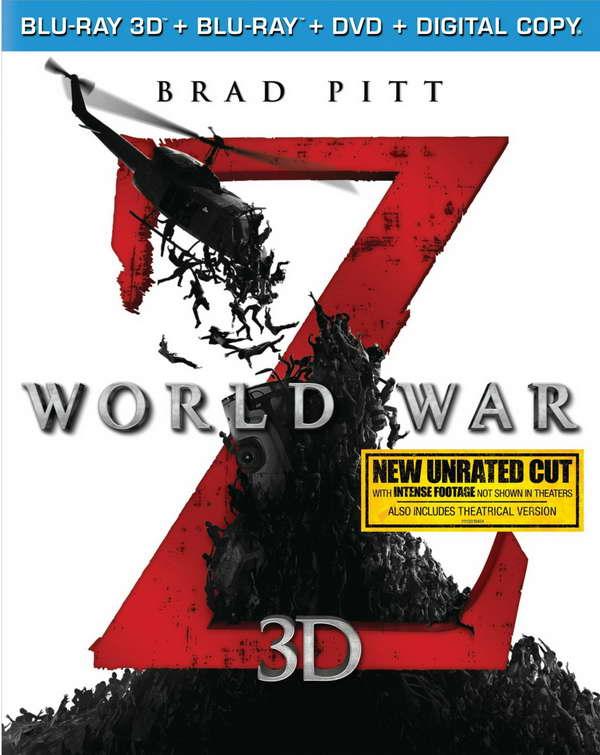 World War Z on blu-ray