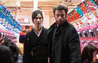 Hugh Jackman and Tao Okamoto in The Wolverine