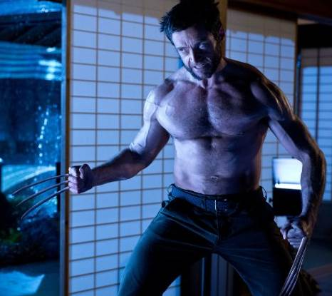 Hugh Jackman in good shape, in The Wolverine