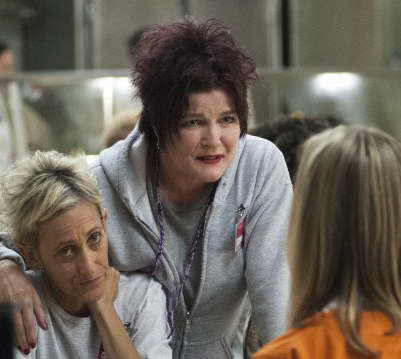 Kate Mulgrew as Red in Orange is the new Black
