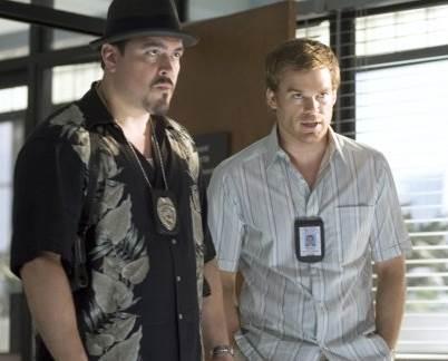 Michael C. Hall and David Zayas in Dexter