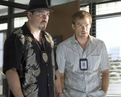 Michael C. Hall and David Zayas in Dexter